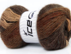 Lot of 4 x 100gr Skeins Ice Yarns MADONNA (40% Wool 30% Mohair) Yarn Brown Shades