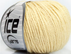 Lot of 6 Skeins Ice Yarns BABY MERINO DK (40% Merino Wool) Yarn Cream