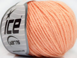 Lot of 6 Skeins Ice Yarns BABY MERINO DK (40% Merino Wool) Yarn Light Salmon