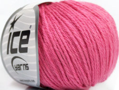 Lot of 6 Skeins Ice Yarns BABY MERINO DK (40% Merino Wool) Yarn Rose Pink