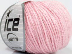 Lot of 6 Skeins Ice Yarns BABY MERINO DK (40% Merino Wool) Yarn Baby Pink