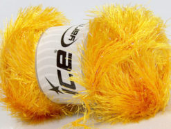 Lot of 4 x 100gr Skeins Ice Yarns EYELASH GLITZ Hand Knitting Yarn Gold