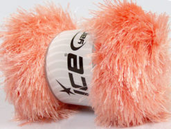 Lot of 4 x 100gr Skeins Ice Yarns EYELASH GLITZ Yarn Light Salmon