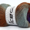 Lot of 4 x 100gr Skeins Ice Yarns PRIMADONNA (50% Wool) Yarn Grey Brown Shades Purple Shades Khaki