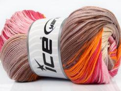 Lot of 4 x 100gr Skeins Ice Yarns CAMILLA COTTON MAGIC (100% Mercerized Cotton) Yarn Pink Shades Orange Camel Beige Cream