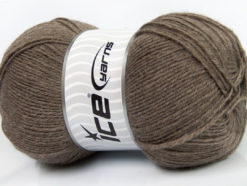 Lot of 4 x 100gr Skeins Ice Yarns MERINO GOLD (60% Merino Wool) Yarn Dark Beige