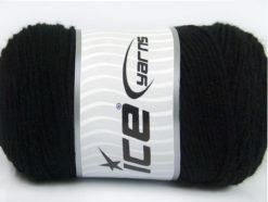 Lot of 2 x 200gr Skeins Ice Yarns SAVER Hand Knitting Yarn Black