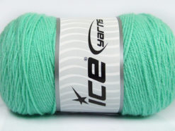 Lot of 2 x 200gr Skeins Ice Yarns SAVER Hand Knitting Yarn Mint Green