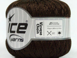 Lot of 6 Skeins Ice Yarns VISCOSE CHAIN (40% Viscose) Yarn Dark Brown