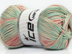 Lot of 4 x 100gr Skeins Ice Yarns TROPICAL MERCERIZED (100% Mercerized Cotton) Yarn Mint Green Lilac Salmon Beige