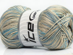 Lot of 4 x 100gr Skeins Ice Yarns TROPICAL MERCERIZED (100% Mercerized Cotton) Yarn Blue Lilac Grey Beige