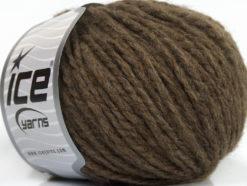 Lot of 8 Skeins Ice Yarns PALOMA WOOL (40% Wool) Hand Knitting Yarn Brown