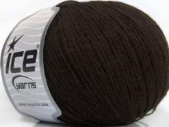 Lot of 8 Skeins Ice Yarns RONDO WOOL (40% Wool) Hand Knitting Yarn Dark Brown