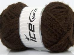 Lot of 4 x 100gr Skeins Ice Yarns SALE WINTER (40% Wool) Yarn Dark Brown