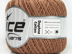Lot of 6 Skeins Ice Yarns DAPHNE COTTON (100% Mercerized Cotton) Yarn Beige