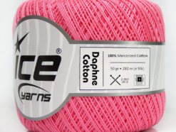 Lot of 6 Skeins Ice Yarns DAPHNE COTTON (100% Mercerized Cotton) Yarn Pink