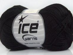 Lot of 6 Skeins Ice Yarns ALMINA COTTON (100% Mercerized Cotton) Yarn Black