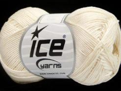Lot of 6 Skeins Ice Yarns ALMINA COTTON (100% Mercerized Cotton) Yarn Ecru