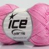 Lot of 6 Skeins Ice Yarns ALMINA COTTON (100% Mercerized Cotton) Yarn Pink