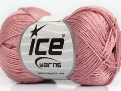 Lot of 6 Skeins Ice Yarns ALMINA COTTON (100% Mercerized Cotton) Yarn Rose Pink