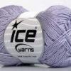 Lot of 6 Skeins Ice Yarns ALMINA COTTON (100% Mercerized Cotton) Yarn Light Lilac