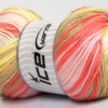 Lot of 4 x 100gr Skeins Ice Yarns MAGIC BABY Yarn Yellow Camel Salmon Pink White