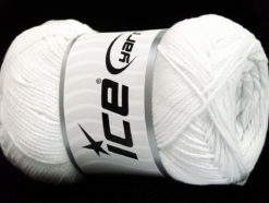 Lot of 4 x 100gr Skeins Ice Yarns NATURAL COTTON AIR (100% Cotton) Yarn White