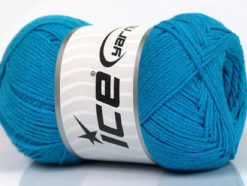 Lot of 4 x 100gr Skeins Ice Yarns NATURAL COTTON AIR (100% Cotton) Yarn Turquoise