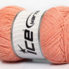 Lot of 4 x 100gr Skeins Ice Yarns NATURAL COTTON AIR (100% Cotton) Yarn Light Salmon
