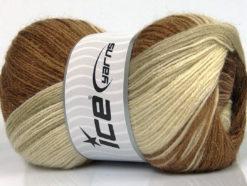 Lot of 4 x 100gr Skeins Ice Yarns MOHAIR MAGIC GLITZ (20% Mohair 20% Wool) Yarn Brown Shades Cream