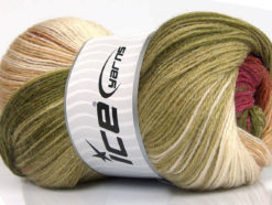 Lot of 4 x 100gr Skeins Ice Yarns MOHAIR MAGIC GLITZ (20% Mohair 20% Wool) Yarn Green Shades Brown Burgundy