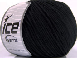 Lot of 4 x 100gr Skeins Ice Yarns COTTON BAMBOO LIGHT (60% Bamboo 40% Cotton) Yarn Black