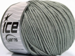 Lot of 4 x 100gr Skeins Ice Yarns COTTON BAMBOO LIGHT (60% Bamboo 40% Cotton) Yarn Light Grey