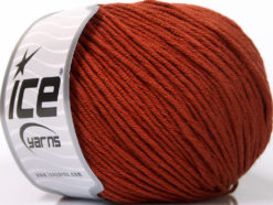 Lot of 4 x 100gr Skeins Ice Yarns COTTON BAMBOO LIGHT (60% Bamboo 40% Cotton) Yarn Terra Cotta