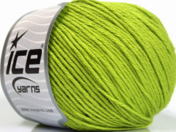 Lot of 4 x 100gr Skeins Ice Yarns COTTON BAMBOO LIGHT (60% Bamboo 40% Cotton) Yarn Bright Green