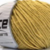 Lot of 4 x 100gr Skeins Ice Yarns COTTON BAMBOO LIGHT (60% Bamboo 40% Cotton) Yarn Light Olive Green
