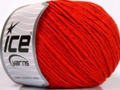 Lot of 4 x 100gr Skeins Ice Yarns COTTON BAMBOO LIGHT (60% Bamboo 40% Cotton) Yarn Dark Orange