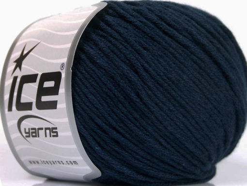 Lot of 4 x 100gr Skeins Ice Yarns COTTON BAMBOO LIGHT (60% Bamboo 40% Cotton) Yarn Navy