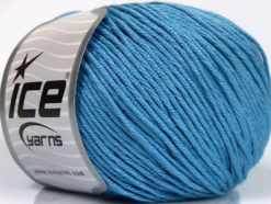 Lot of 4 x 100gr Skeins Ice Yarns COTTON BAMBOO LIGHT (60% Bamboo 40% Cotton) Yarn Blue