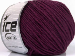 Lot of 4 x 100gr Skeins Ice Yarns COTTON BAMBOO LIGHT (60% Bamboo 40% Cotton) Yarn Maroon