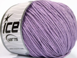 Lot of 4 x 100gr Skeins Ice Yarns COTTON BAMBOO LIGHT (60% Bamboo 40% Cotton) Yarn Light Lilac