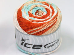Lot of 2 x 200gr Skeins Ice Yarns CAKES NATURAL COTTON (100% Cotton) Yarn Copper Mint Green Cafe Latte White