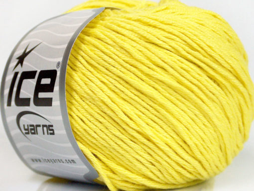 Lot of 4 x 100gr Skeins Ice Yarns COTTON BAMBOO LIGHT (60% Bamboo 40% Cotton) Yarn Yellow