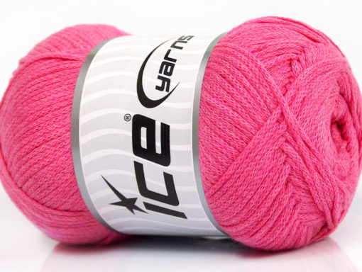 Lot of 4 x 100gr Skeins Ice Yarns NATURAL COTTON AIR (100% Cotton) Yarn Pink