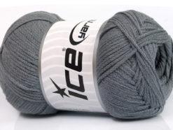 Lot of 4 x 100gr Skeins Ice Yarns NATURAL COTTON AIR (100% Cotton) Yarn Dark Grey