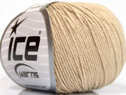 Lot of 8 Skeins Ice Yarns BABY SUMMER (60% Cotton) Hand Knitting Yarn Beige