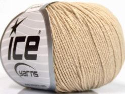 Lot of 8 Skeins Ice Yarns BABY SUMMER (60% Cotton) Hand Knitting Yarn Beige