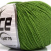 Lot of 8 Skeins Ice Yarns BABY SUMMER (60% Cotton) Yarn Forest Green