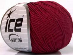 Lot of 8 Skeins Ice Yarns BABY SUMMER (60% Cotton) Hand Knitting Yarn Burgundy