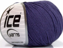 Lot of 8 Skeins Ice Yarns BABY SUMMER (60% Cotton) Hand Knitting Yarn Purple
